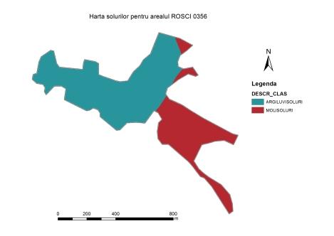 Figura 5 Harta solurilor din Situl Sard